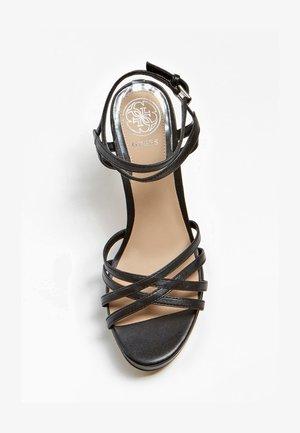 SANDALO BEACHIE VERA PELLE - High heeled sandals - nero