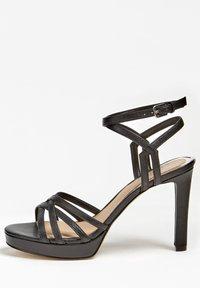 Guess - SANDALO BEACHIE VERA PELLE - High heeled sandals - nero - 0