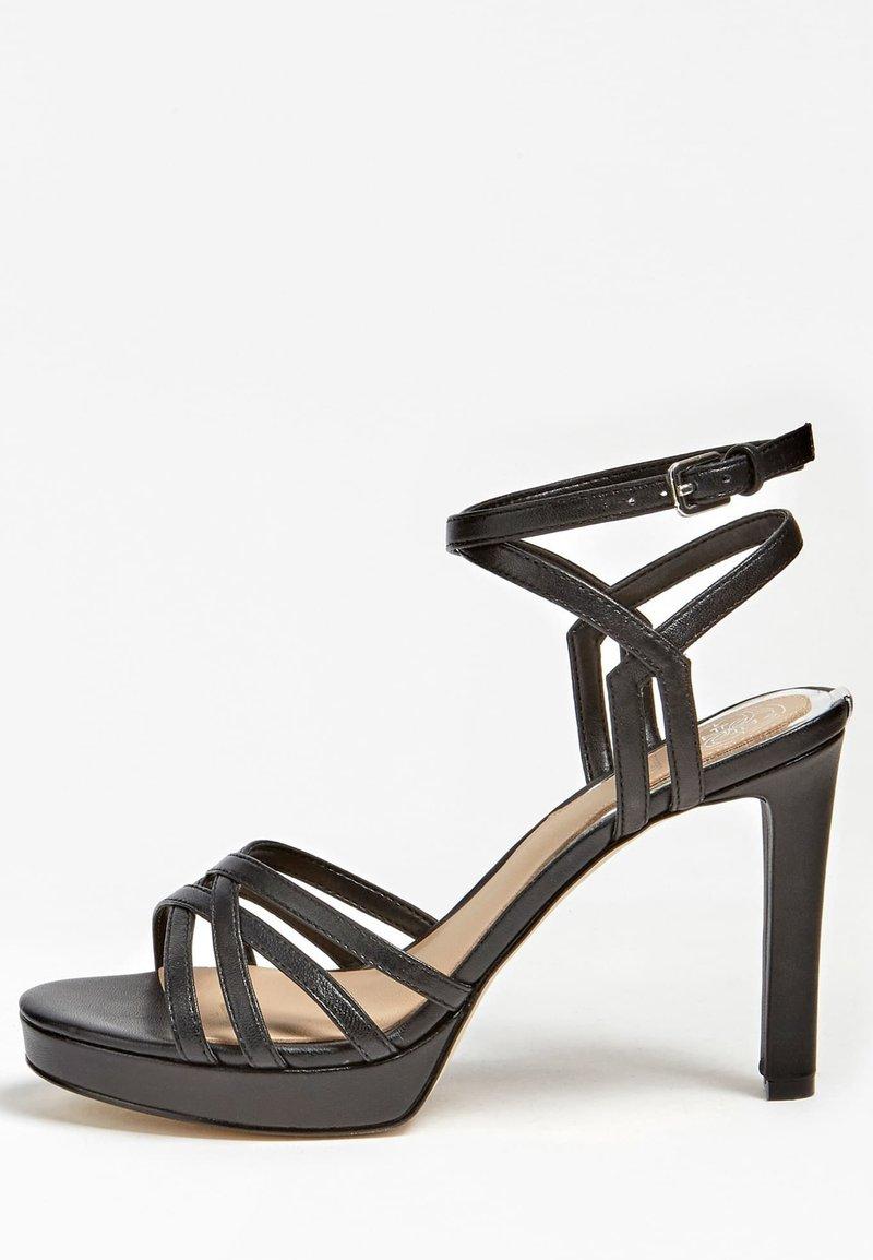Guess - SANDALO BEACHIE VERA PELLE - High heeled sandals - nero