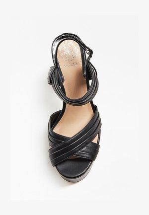 SANDALO JANIA VERA PELLE - High heeled sandals - nero