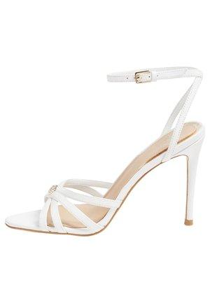 SANDALO KALISTA VERA PELLE - High heeled sandals - bianco