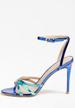 SANDALO KALISTA LAMINATO - High heeled sandals - blu