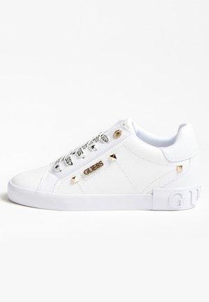 PUXLY SNEAKERS LOGO VETERS - Sneakers laag - wit
