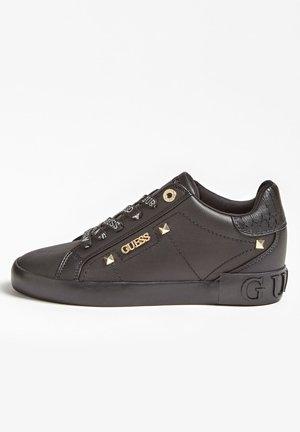 PUXLY SNEAKERS LOGO VETERS - Sneakers laag - zwart