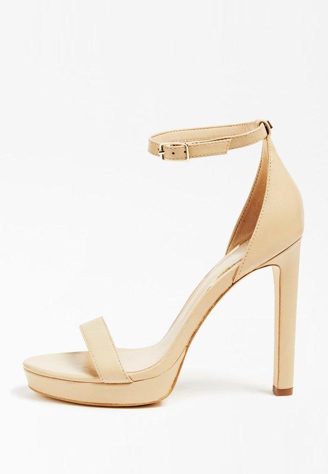 EIRA SANDALEN ECHT LEDER - Sandalen met hoge hak - beige