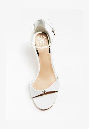 ABIRI SANDALEN ECHT LEDER - Sandales à talons hauts - white