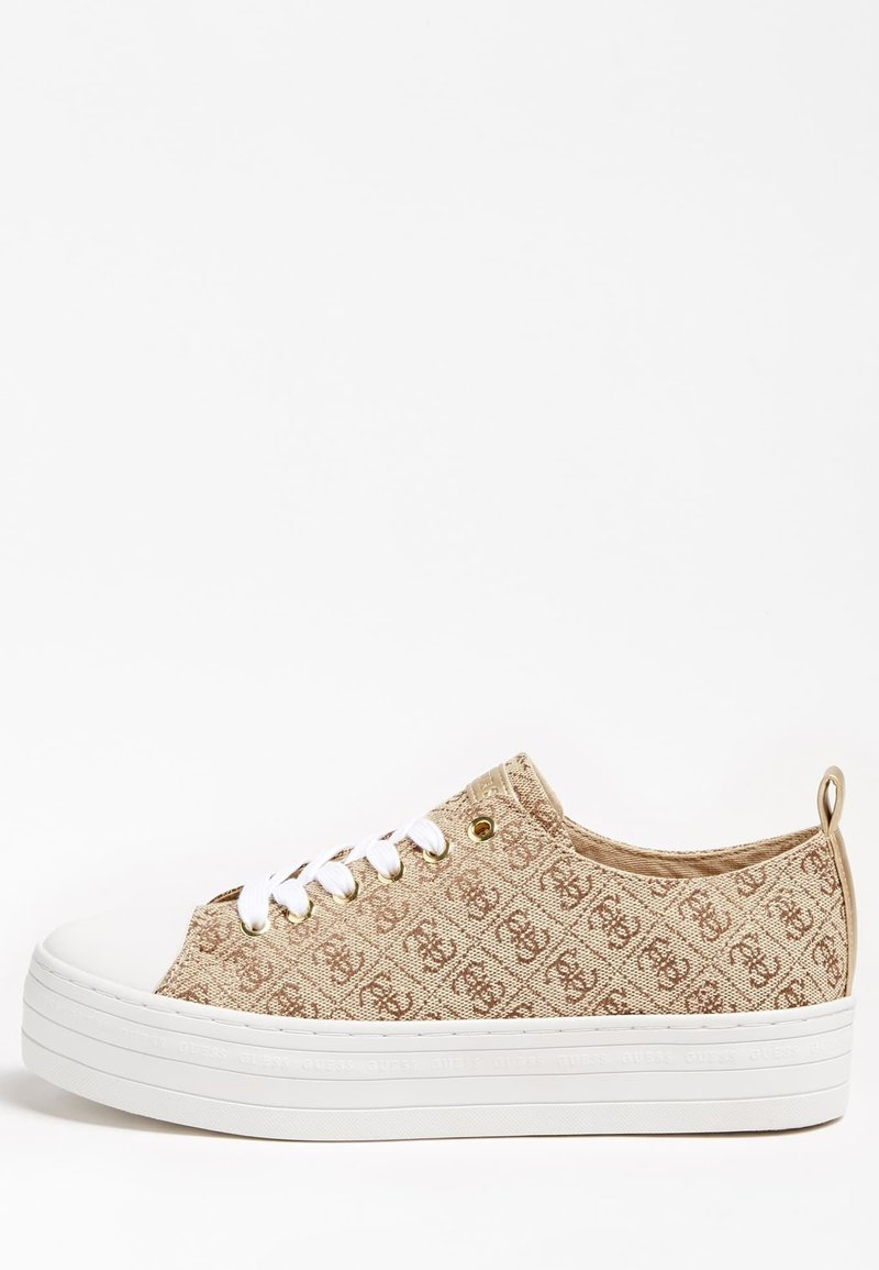Guess - BRIGS SNEAKERS LOGO ALL-OVER - Baskets basses - brown