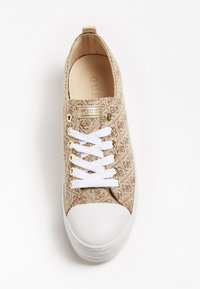 Guess - BRIGS SNEAKERS LOGO ALL-OVER - Baskets basses - brown - 1