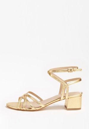 DARION SANDALEN METALLIC LEDER - Sandales - gold