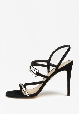 KADEN SANDALEN SUÈDE - High heeled sandals - black