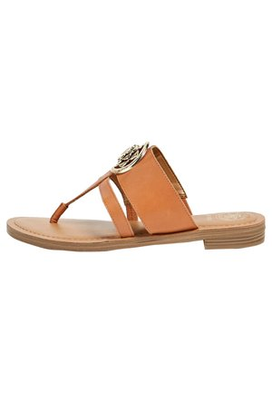 ENTREDOIGT GENERA - T-bar sandals - marron