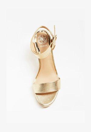 SANDALE BRENDY CUIR LAMINE - Sandalen met hoge hak - gold