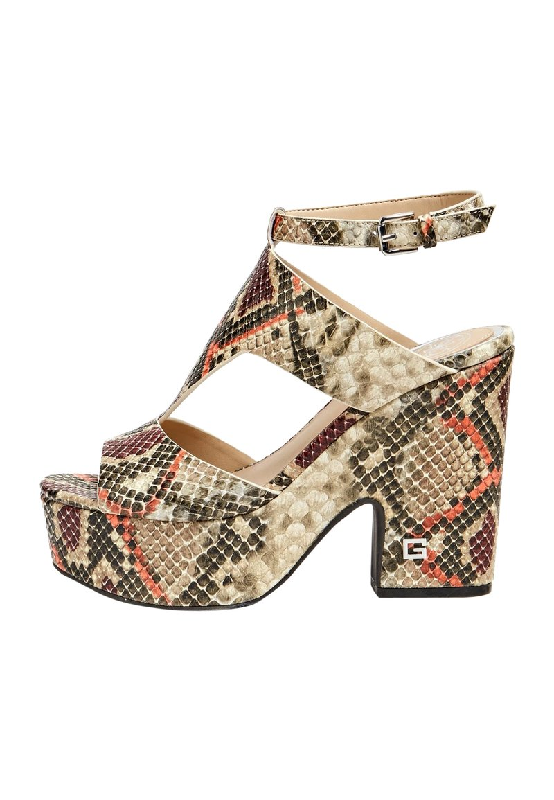 Guess - HYDEY IMPRIME - High heeled sandals - brown