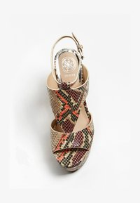 Guess - HYDEY IMPRIME - High heeled sandals - brown - 1