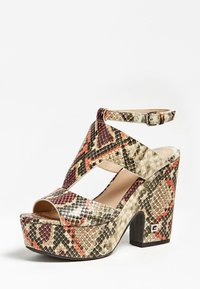 Guess - HYDEY IMPRIME - High heeled sandals - brown - 2