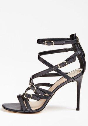 GUESS SANDALETTE KAIRA ECHTES LEDER - High heeled sandals - schwarz