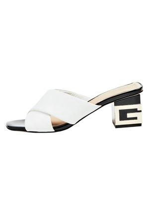 SANDALETTE MADRA ECHTES LEDER - Classic heels - weiß