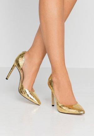 TEDSON - Lodičky na vysokém podpatku - gold