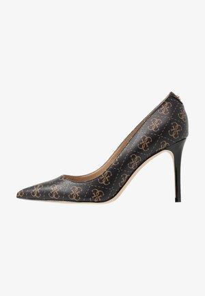 DAFNE - High heels - brown/ocra