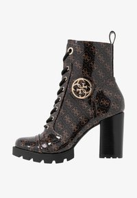 Guess - RURAY - High heeled ankle boots - brown - 1