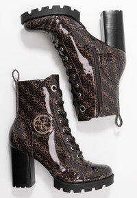 Guess - RURAY - High heeled ankle boots - brown - 3