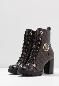 Guess - RURAY - High heeled ankle boots - brown - 4