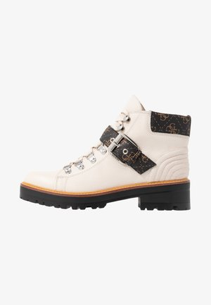 IRVIN - Boots à talons - white/brown