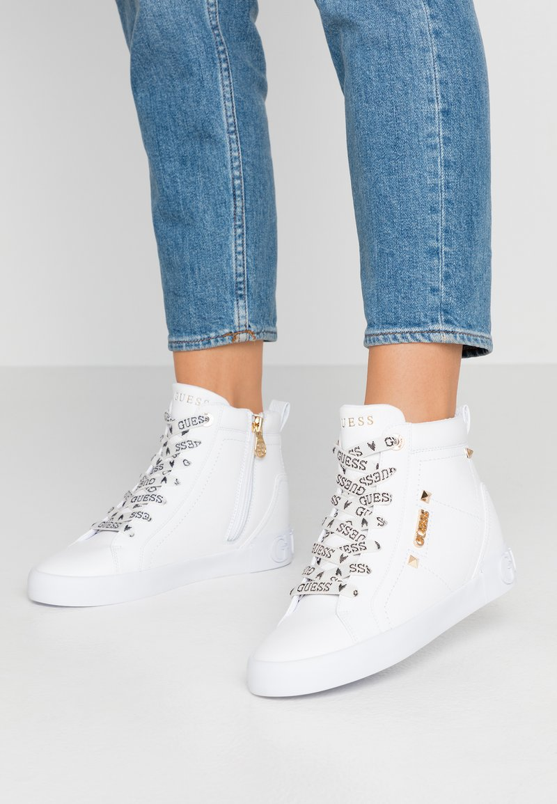 Guess - PORTLY - Sneakers hoog - white