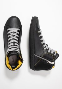 Guess - MIRACLE MID - Sneakers high - black/yellow - 1