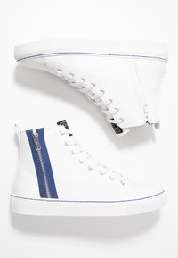 Guess - LUISS MID - Zapatillas altas - white/blue - 1