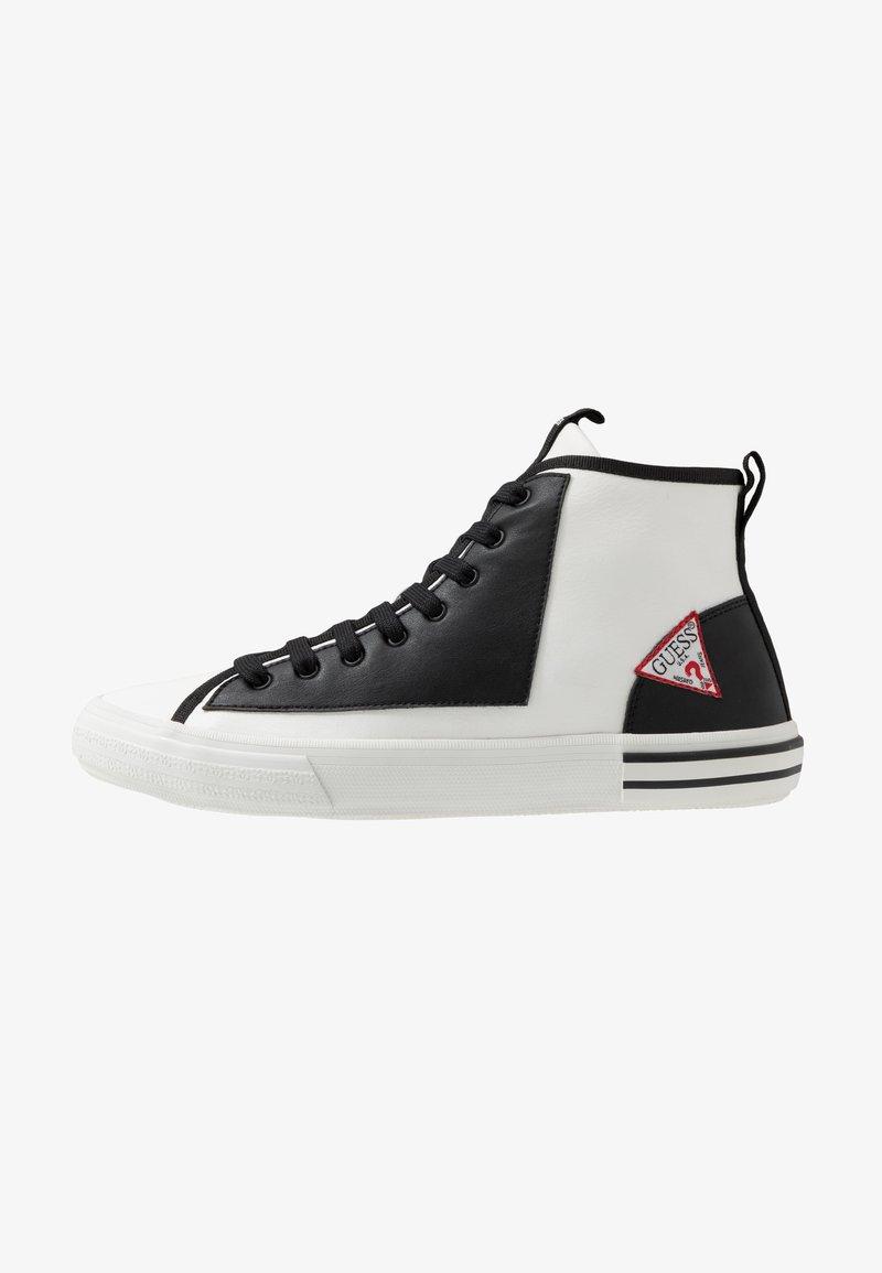Guess - NETTUNO - Sneakersy wysokie - white/black