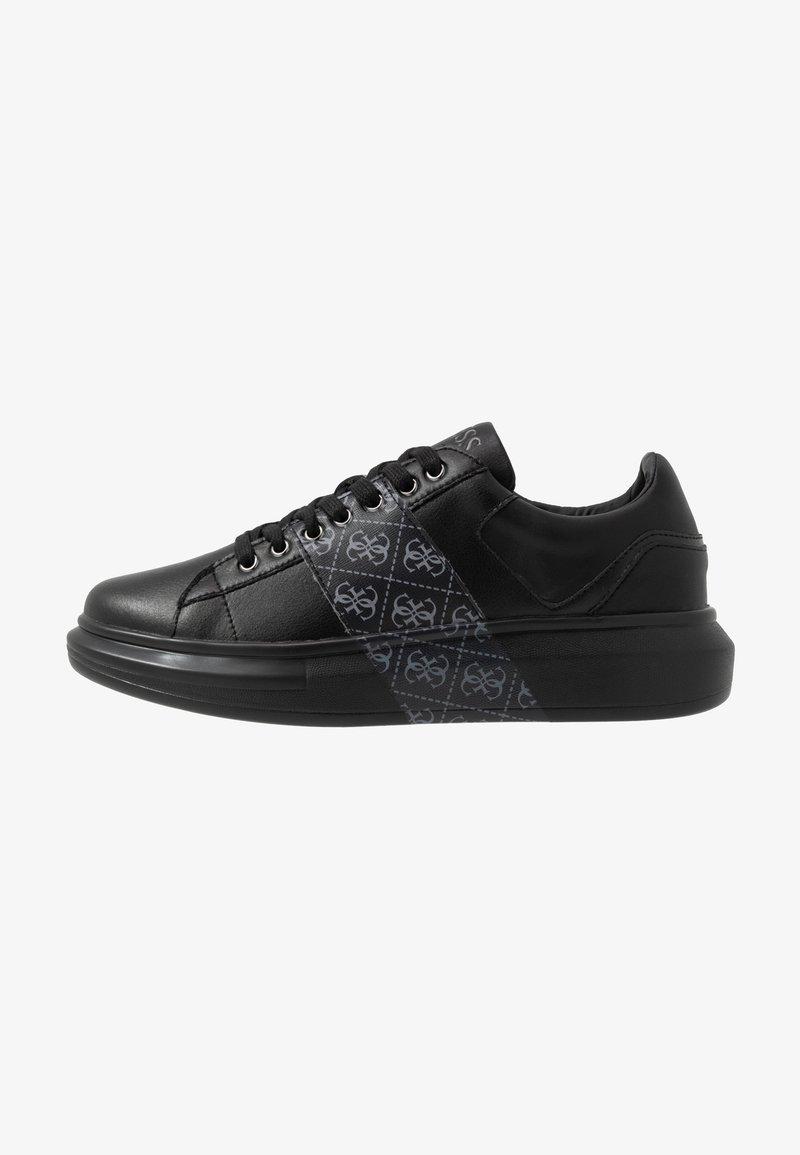 Guess - SALERNO II - Baskets basses - black/grey