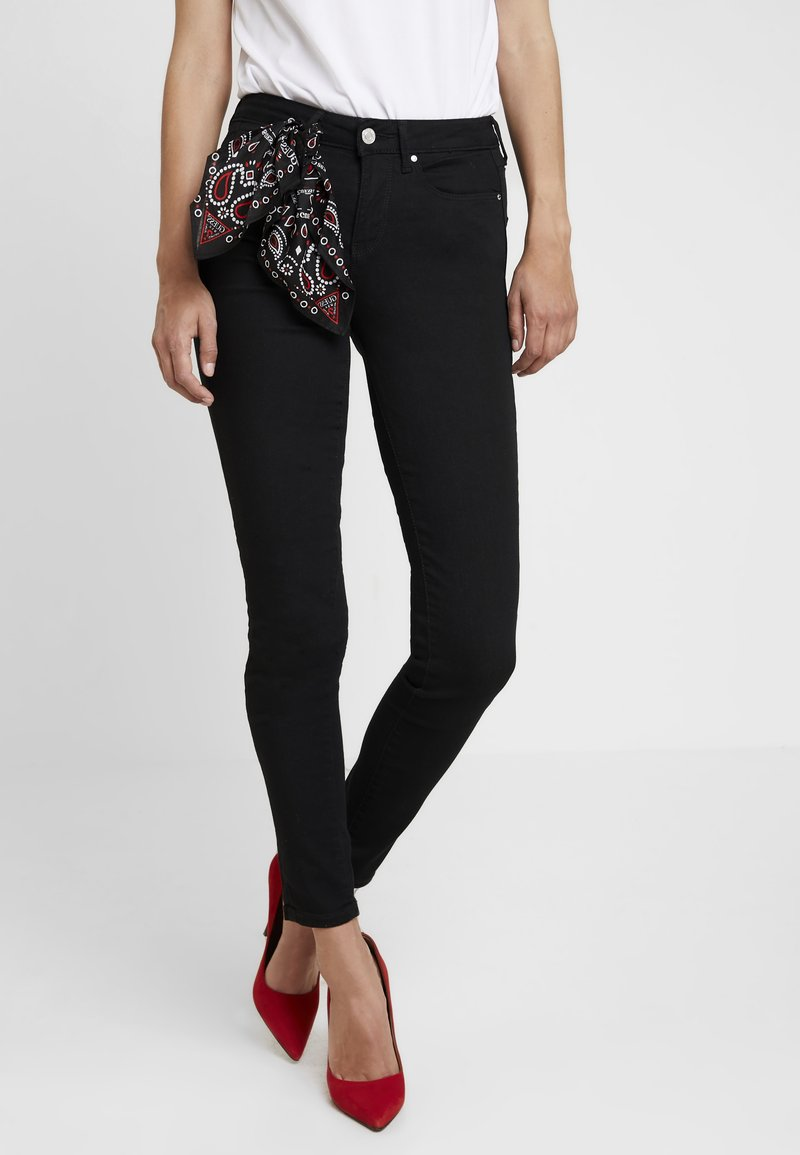 Guess - JEGGING MID - Jeans Skinny Fit - jet black a996