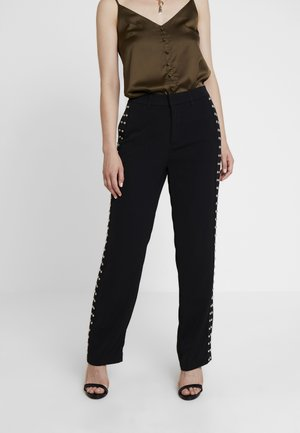 LORENZA PANTS - Trousers - jet black