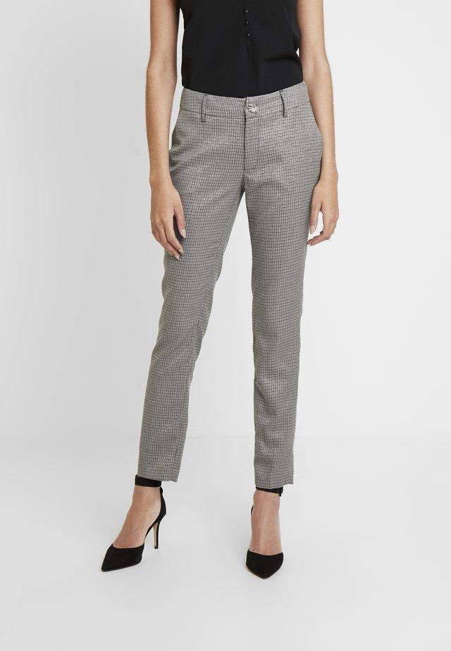 ZOE PANTS - Spodnie materiałowe - lurex grey check com