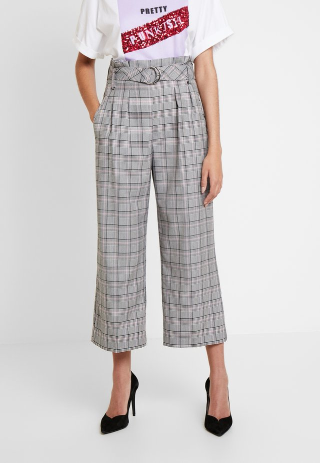 SARAH PANTS - Spodnie materiałowe - pink and grey prince