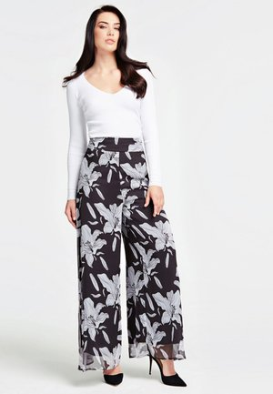 MARLENEHOSE - Pantalon classique - multi-colored/white