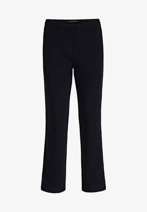 HOSE SEITLICHE KONTRASTSTREIFEN - Trousers - black