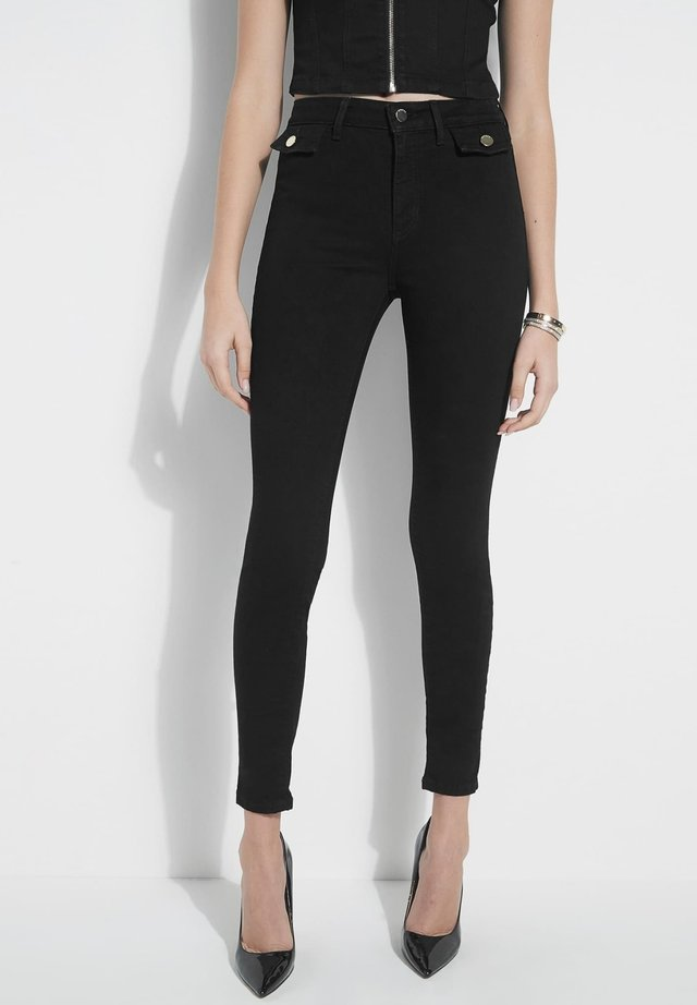Spodnie materiałowe - zwart