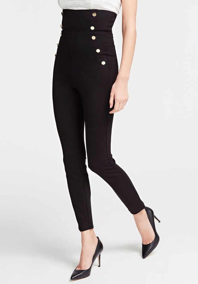 BOTTONI A VISTA - Legging - nero