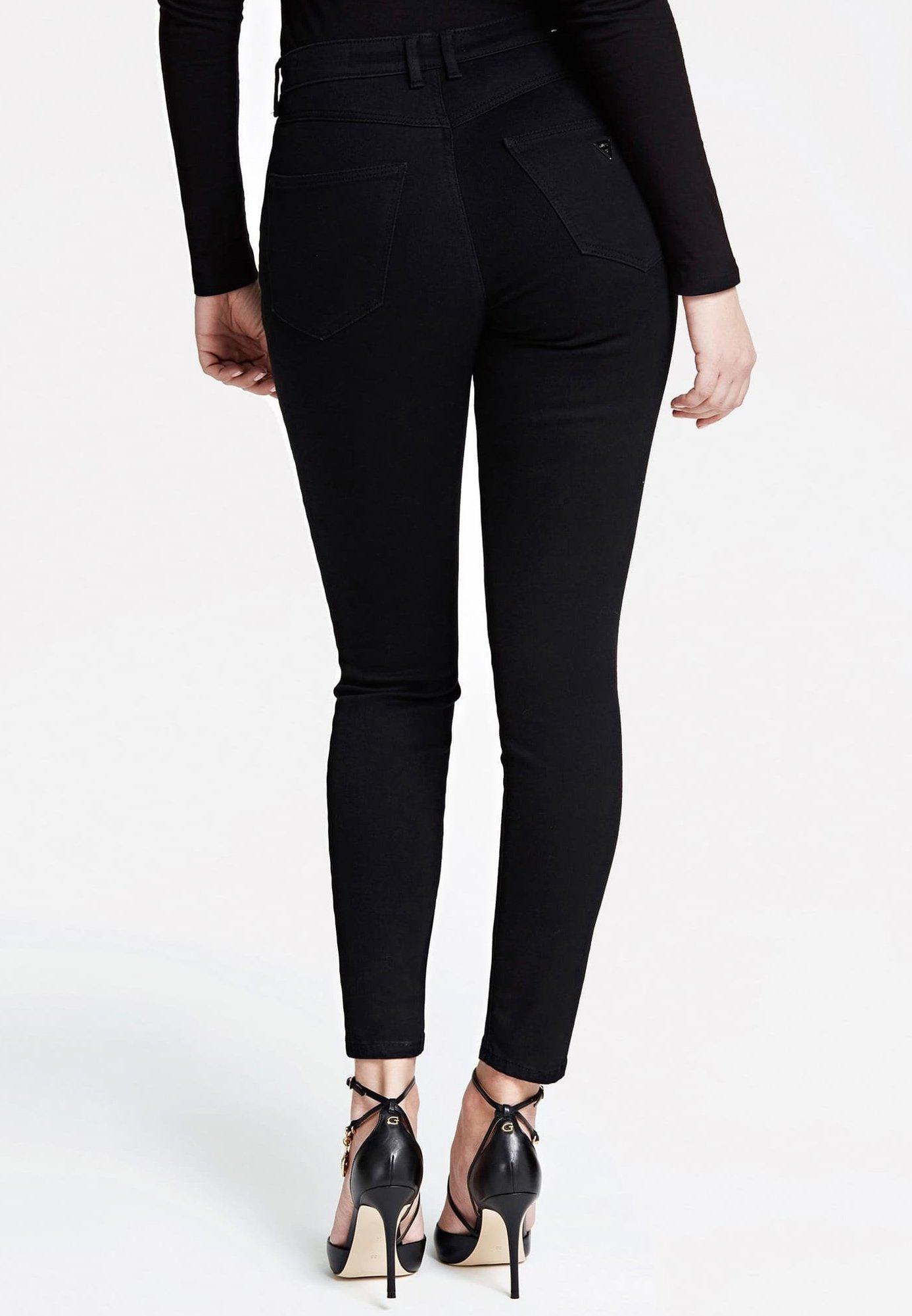 Guess Hoher Bund - Pantalon Classique Schwarz