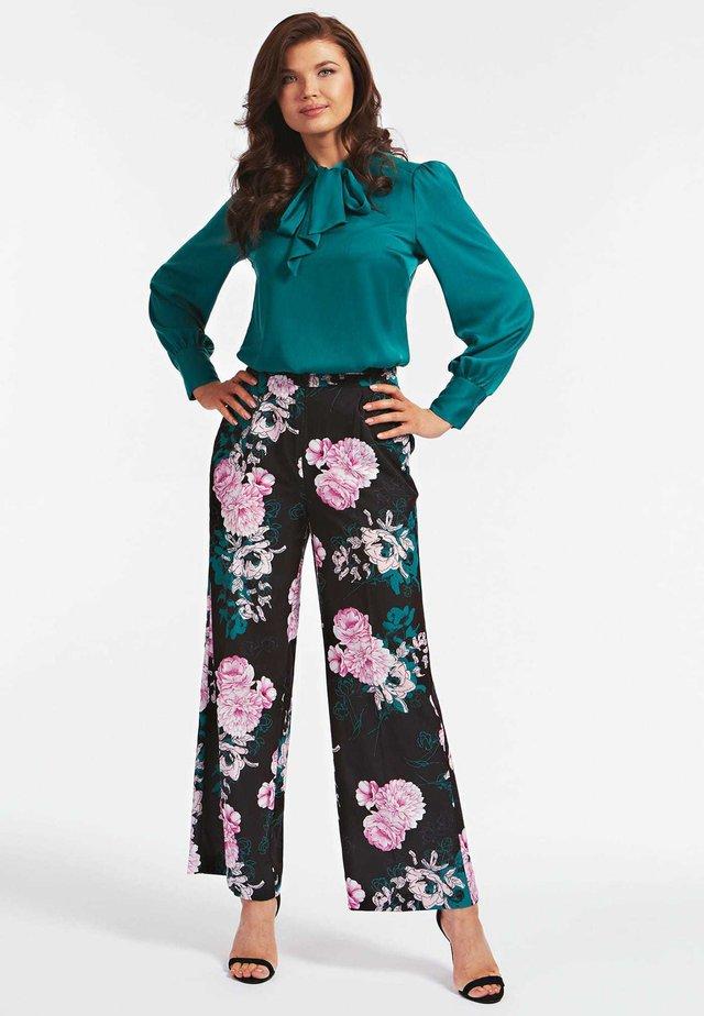 Spodnie materiałowe - fantaisie florale