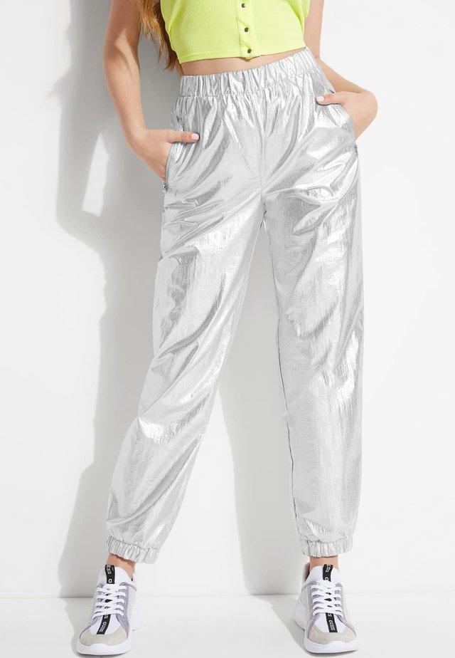METALLIC - Spodnie treningowe - mehrfarbig silber
