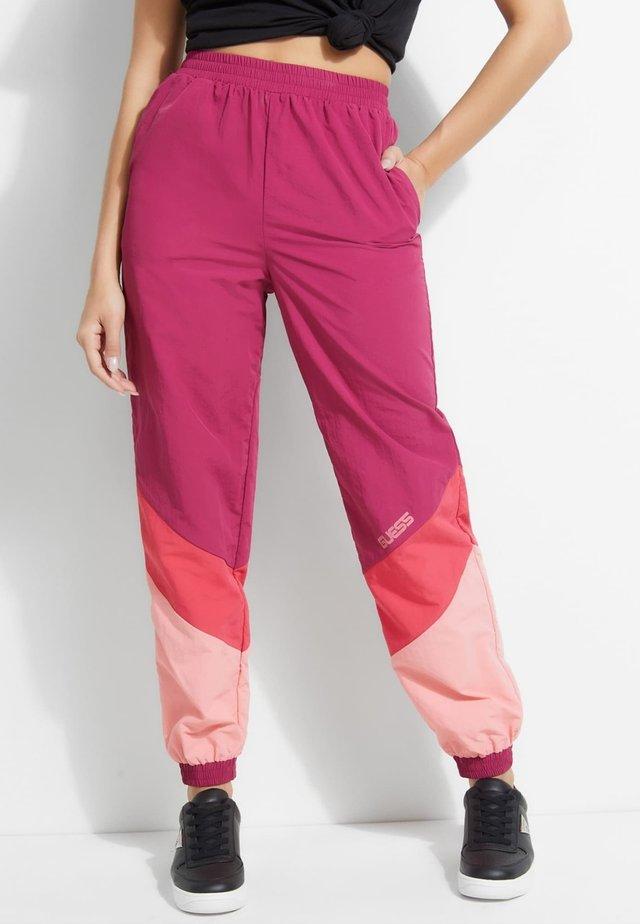 Spodnie materiałowe - roze multi