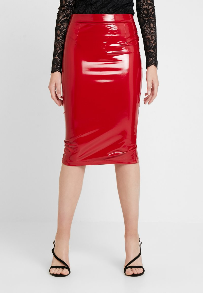 Guess - LILIA SKIRT - Gonna a tubino - red attitude