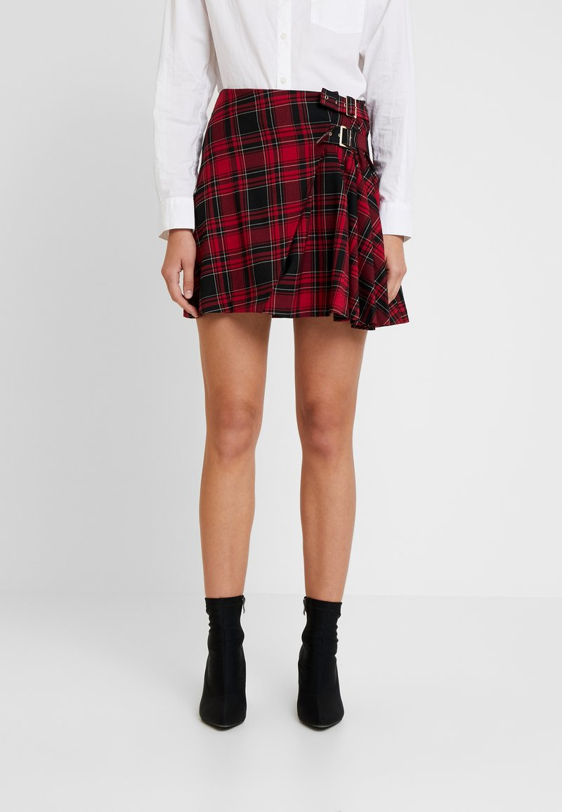 Guess - SYLVIA  - Wrap skirt - red/black