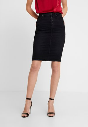 LONGUETTE - Pencil skirt - marching black