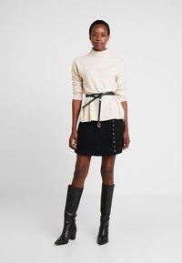 Guess - DOREEN SKIRT - Mini skirt - jet black - 1