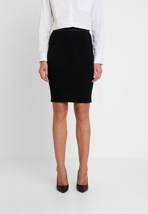 YLENIA SKIRT - Pencil skirt - jet black