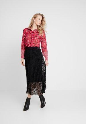 MALAK SKIRT - Plisovaná sukně - jet black